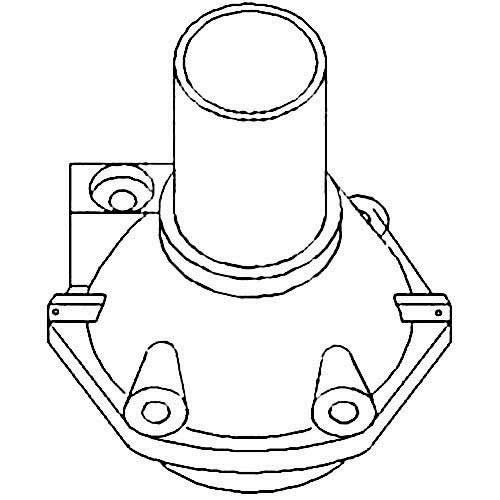 Main Drive Input Shaft Retainer Assembly, New, Massey Ferguson, 188847M92, 1860889M1 (Shaft Retainer Assembly)