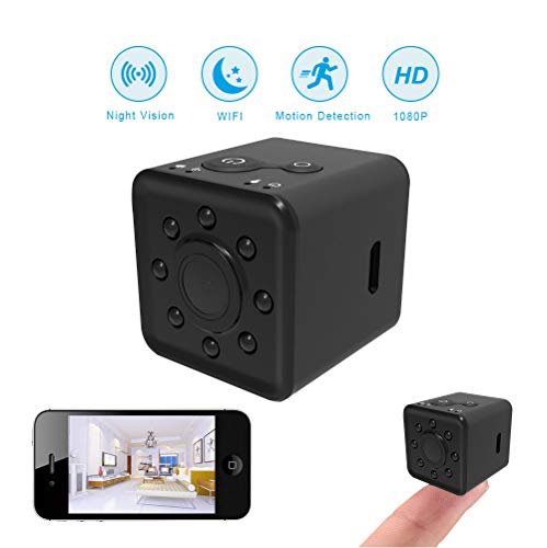 Spy Camera Wireless Hidden WiFi Camera,HD 1080P Sports Mini DV Video Recorder, Suitable for Outdoor Sports Shooting DV, Waterproof case Included
