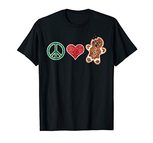 (Funny Peace Love Christmas Cookies Xmas Gingerbread)