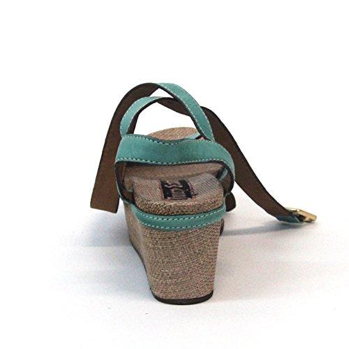 Juicy Couture con plataforma para colgar abierto para dedo del pie y pedrería para mujer, estándar del Reino Unido 3,5, de £138 negro - turquesa