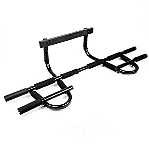Pull Up Bar Sportneer Doorway Chin Up Pullup Bars Multi-Grip Trainer Workout for Home Gym, Holds Up to 330 lbs