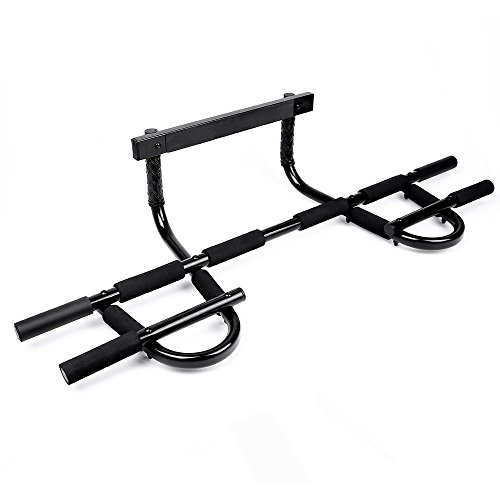 Sportneer Pull Up Bar Doorway Chin Up Pullup Bar Multi-Grip Trainer Workout for Home Gym, Up to 330 lbs For Sale