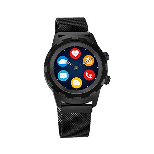 Titan Connected X Black Hybrid Smartwatch for Men with Heart Rate Monitor + Full touch Display + Interchangeable strap – 90116NM01
