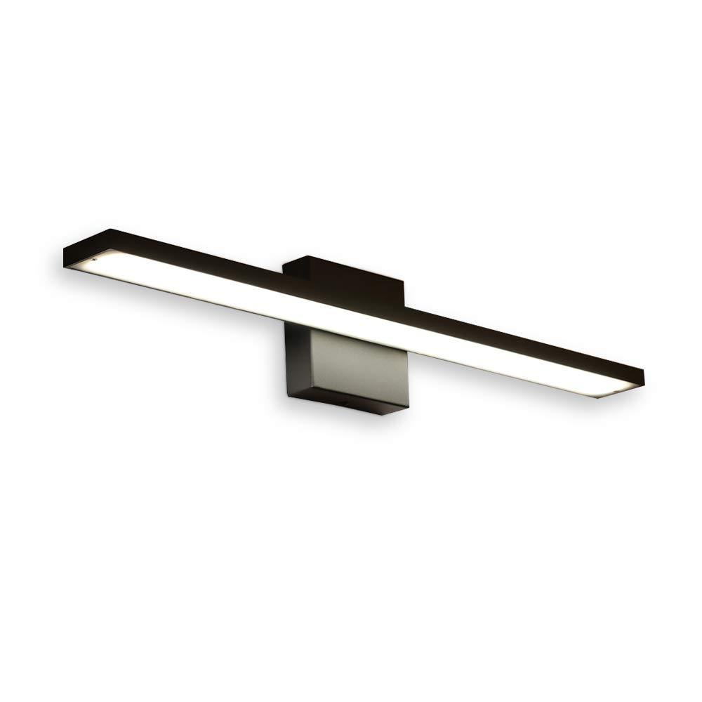comeonlight 24-inch LED Vanity Light Fixture Modern Bathroom Light Fixtures 12W 800 Lumens Aluminum Material Bathroom Vanity Light 4500K White Color,Ra 85 Black