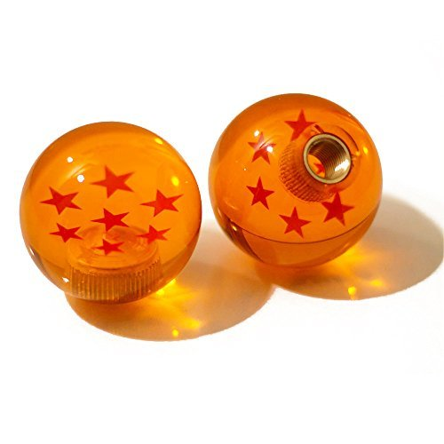 Kei Project Dragon ball Z Star Manual Stick Shift Knob With Adapters Fits Most Cars (7 Star) (Automatic Stick Shift)