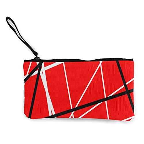 - MODREACH Red with Black White Stripes Color Print Tote Shopping Bag for Women Coin Purse Wallet Bag Makeup Bag Pencil Bag for Litter Girls Student