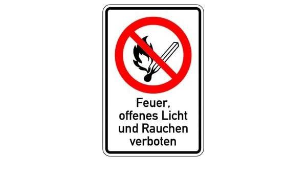 Cartel 1623. combinado Fuego, abierto Luz y Prohibido fumar ...