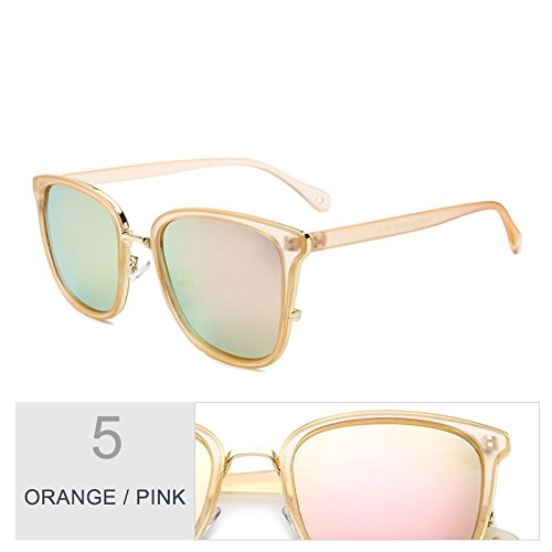 de sol UV400 Gafas Gafas mujeres TR90 Sunglasses TL de gafas Gris de para Gris Pink sol polarizadas Orange sol estilo lentes popular femenina Piazza A5H6OHq
