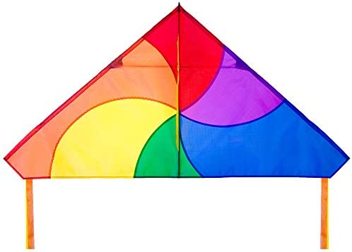 Rainbow Color HQ Kites Delta Vortex Kite 27 Inch Single Line Kite Active Outdoor Fun for Ages 5 Years and Up HQ Kites Toys 106114