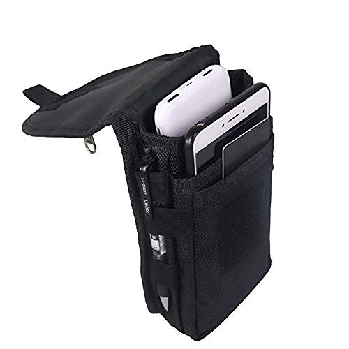 Large Smartphone Pouch, Tactical Phone Holster, Tool Holder, Tactical Carrying Case Belt Loop Pouch Men's Waist Pocket for Hiking, Camping, Barbeque, Rescue Essential HGJ302