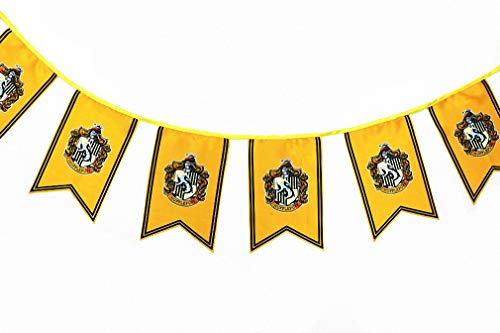 [12pcs 3M] Harry Potter Wall Banner, Gryffindor   Slytherin   Hufflepuff   Ravenclaw Flags for Bar House Party -