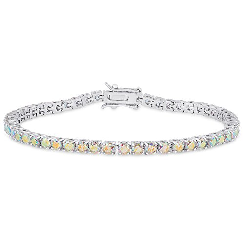Dolce Giavonna DolceGiavonna Round Cubic Zirconia Classic Tennis Bracelet, 7.50