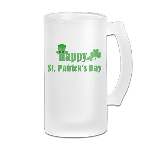 Carylon Mcgee Happy St.Patrick's Day Premium Beautiful Frosted Beer Glass Beer Cup Beer Mugs Homeusage Cups Mugs Coffee Mugs Water Mugs Beer Glasses Beer Mugs & - Spokane Shopping Malls