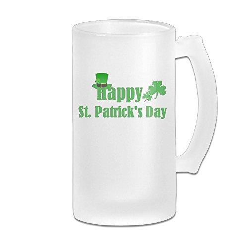 Carylon Mcgee Happy St.Patrick's Day Premium Beautiful Frosted Beer Glass Beer Cup Beer Mugs Homeusage Cups Mugs Coffee Mugs Water Mugs Beer Glasses Beer Mugs & - Malls Utah Shopping