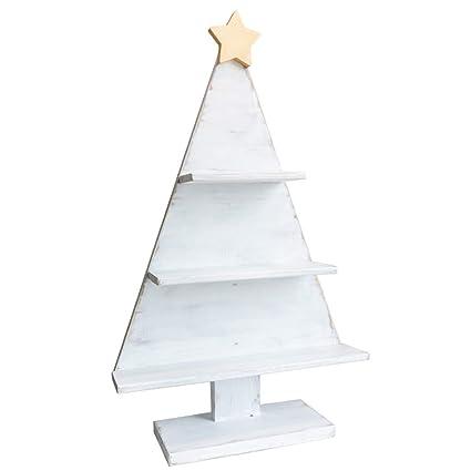 Alberi Di Natale In Legno Amazon.Lyxpuzi Scaffale Da Tavolino Finestra In Legno Massello