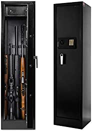 Best Choice Products Large 5 Rifle Digital Gun Safe Electronic Lock Storage Steel Cabinet Firearm