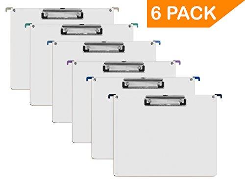 (Acrimet Hanging File Folder Clipboard (Hardboard) (Letter Size) (Assorted Colors) (6 Pack))