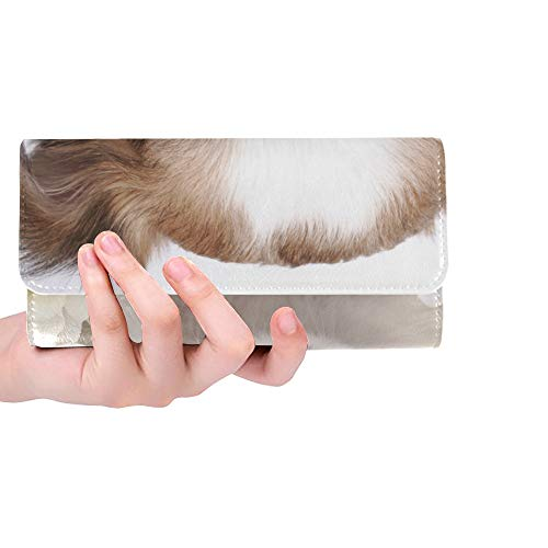r Sweet Chihuahua Puppy And Flowers Women Trifold Wallet Long Purse Credit Card Holder Case Handbag ()