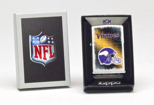 Zippo NFL Brushed Chrome Minnesota Vikings Lighter