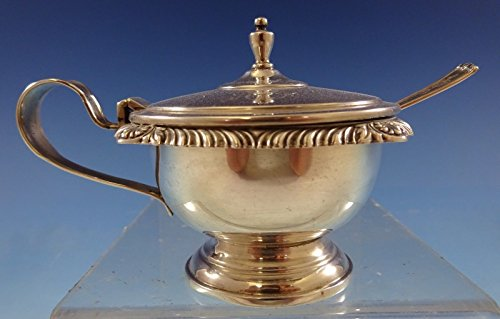 Gadroon by Webster Sterling Silver Mustard Pot with Insert and Spoon (#2483)