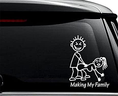 Amazoncom Making My Stick Family Sex Funny Decal Sticker For Use - Family decal stickers for carsamazoncom stick family stick family car window wall laptop decal