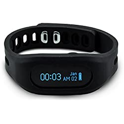 Tushi Activity Tracker Wrist Pedometer Fitness Watch for Walking Steps and Miles. Calorie Counter and clip