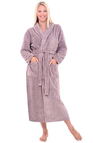 Alexander Del Rossa Del Rossa Womens Fleece Robe, Long Ba...