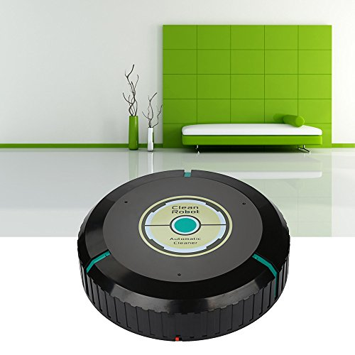 ♔Faber3♔ Intelligent Robotic Vacuum Cleaner Automatic Mini Sweeping Machine for Home, Kitchen,Bedroom,Office (Black)