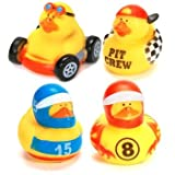 Race Car Driver Rubber Ducky Party Accessory