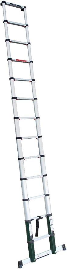 Escalera telescópica profesional de 3,8 metros, según certificación DEKRA y EN 131, muy robusta y montada para su seguridad - con sistema Softclose y viga transversal para una estabilidad adicional: Amazon.es: Bricolaje