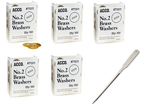 Universal Office Letter Opener - ACCO Brass Washers, 15/32