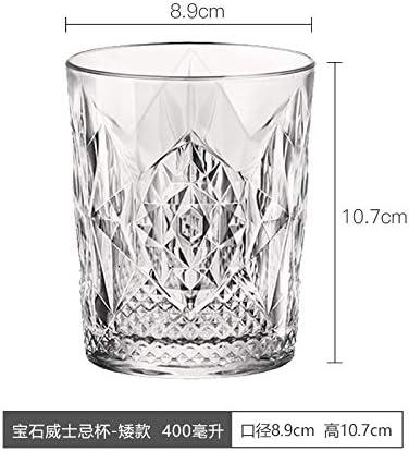 Glaseres Cristalería Copa De Agua De Cristal, Copa De Jugo, Copa De Vino De Whisky, Copa De Cerveza Europea Creative Spirit, Copa De Whisky De Piedras Preciosas 490 Ml - Estilo Alto