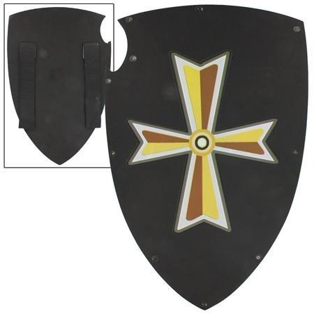 Black Knight's Cross Medieval Foam LARP Warrior's Kite Training Shield (Medieval Foam Larp Shield)