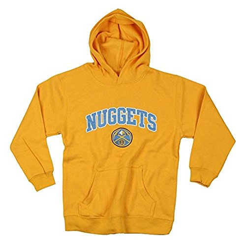 fan products of Denver Nuggets NBA Basketball Youth Hoodie, Hooded Sweatshirt, Yellow (X-Large (14-16))