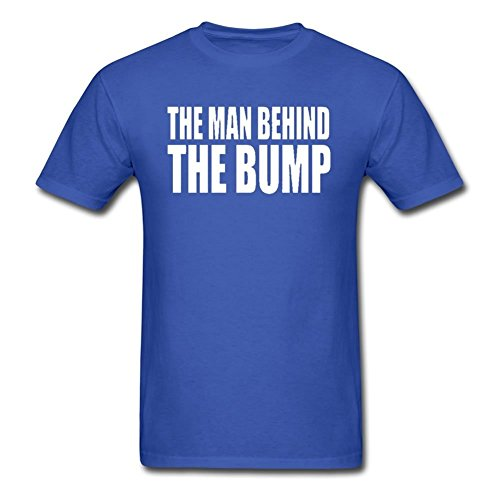Ptshirt.com-19373-LouisClarkSS Men\'s The Man Behind The Bump T-Shirt Blue-B01DZXY6TO-T Shirt Design