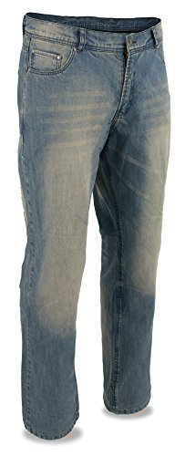 Milwaukee Leather Men's Denim Jeans Reinforced With Aramid (Blue, 44)