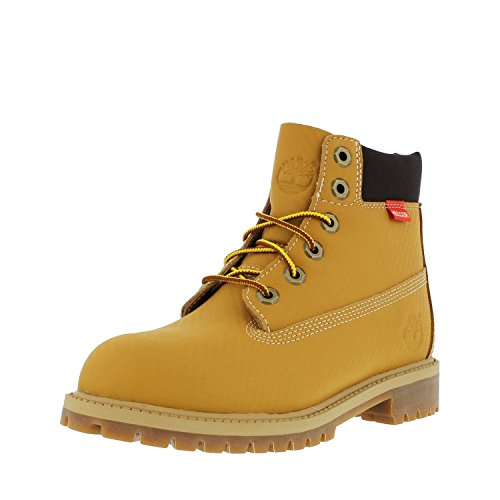 Timberland Boy's 6'' Premium Helcor Waterproof Boot Wheat Helcor Carbone Fiber 4.5 M by Timberland