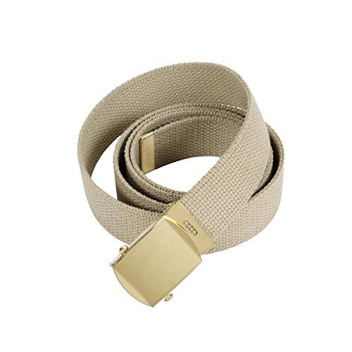 Rothco Plus Military Web Belts, Gov Khaki, 44'' (Belts Web Clothing Accessories)