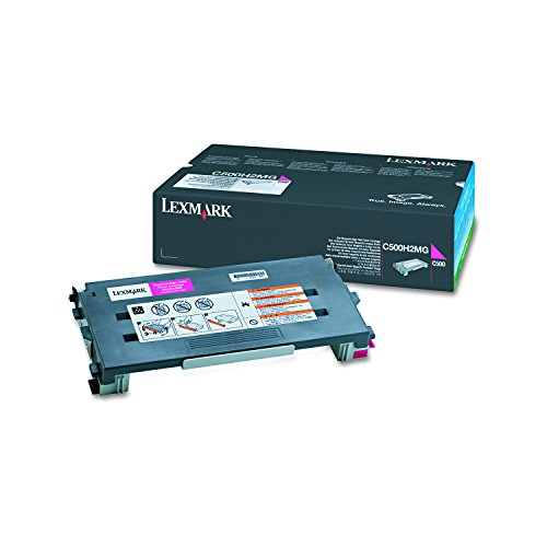 (Lexmark C500H2MG C500 Magenta High Yield Toner Cartridge)