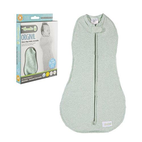Woombie Original Nursery Swaddling Blankets, Green Lime Sorbet, 14-19 Pounds