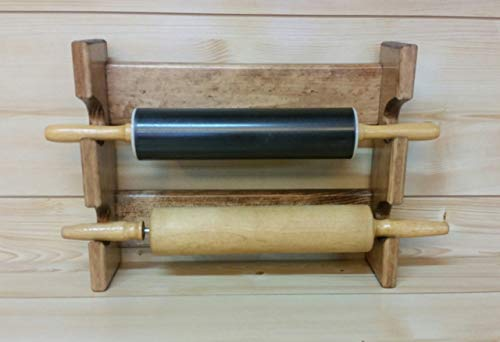 Rolling Pin Rack with Two Slots - Multiple Rolling Pin Rack - Rolling Pin Holder - Rolling Pin Storage - Rolling Pin Display Rack
