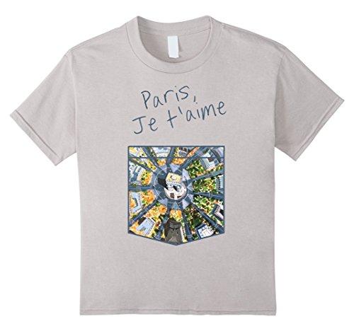 Kids Paris, Je t'aime - Paris I Love You T-Shirt 12 Silver