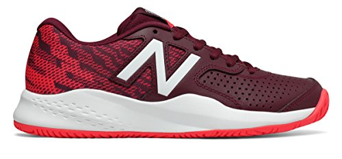 マトン近所の刻む(ニューバランス) New Balance 靴?シューズ レディーステニス 696v3 Oxblood with Vivid Coral オックスブラッド ヴィヴィッド コーラル US 8.5 (25.5cm)