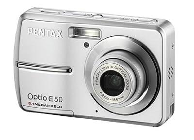 Pentax Optio E50 8.1MP Digital Camera with 3x Optical Zoom (Silver) by Pentax