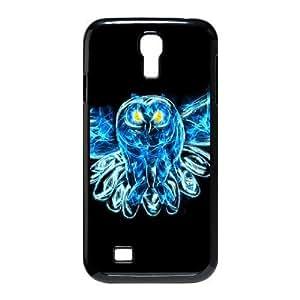 Diy Beautiful Owl Phone Case for samsung galaxy s4 Black Shell Phone JFLIFE(TM) [Pattern-2] Kimberly Kurzendoerfer