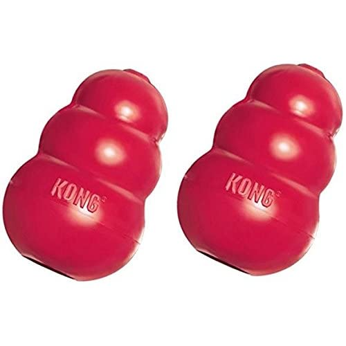 delicate (2 Pack) KONG King Classic Dog Toy, XX-Large, Red