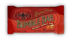 BumbleBar Gluten Free Organic Energy Original with Hazelnut, 1.4-Ounce Bars (Pack of 12)