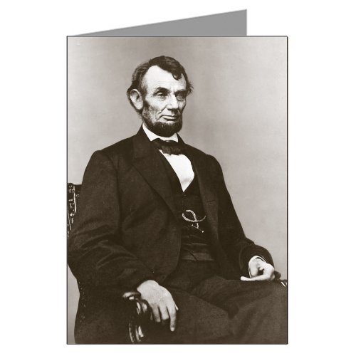 Single Greeting Card of Abraham Lincoln from Berger-Brady Portrait Which was used on the five dollar bill (Abraham Lincoln On The Five Dollar Bill)
