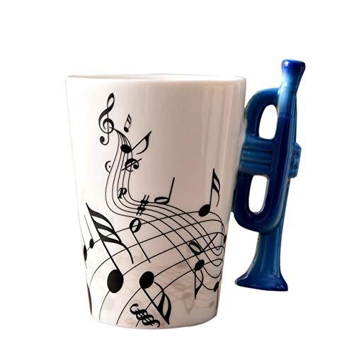 Fiesta Hoomall Milk Juice Lemon Tazas calientes Personalidad Nota musical Café Taza de té Oficina en casa Drinkware...