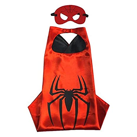 6a8e4034c55fa Buy Fancydresswale Dress up Costume Superhero Capes Set with mask for Boys  and Girls- Birthday Party Gift for Kids (Spider Man) Online at Low Prices in  ...